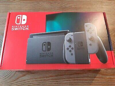 NEW Nintendo 32GB Nintendo Switch w/ Gray Joy-Con Controllers HADSKAAAA