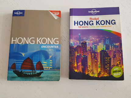 2 x Lonely Planet Hong Kong Guidebooks