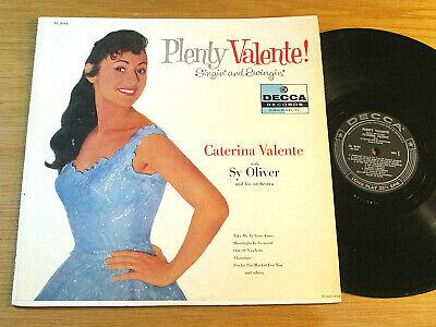 "MONO FEMALE POP LP - CATERINA VALENTE - DECCA 8440 - ""PLENTY VALENTE!"""