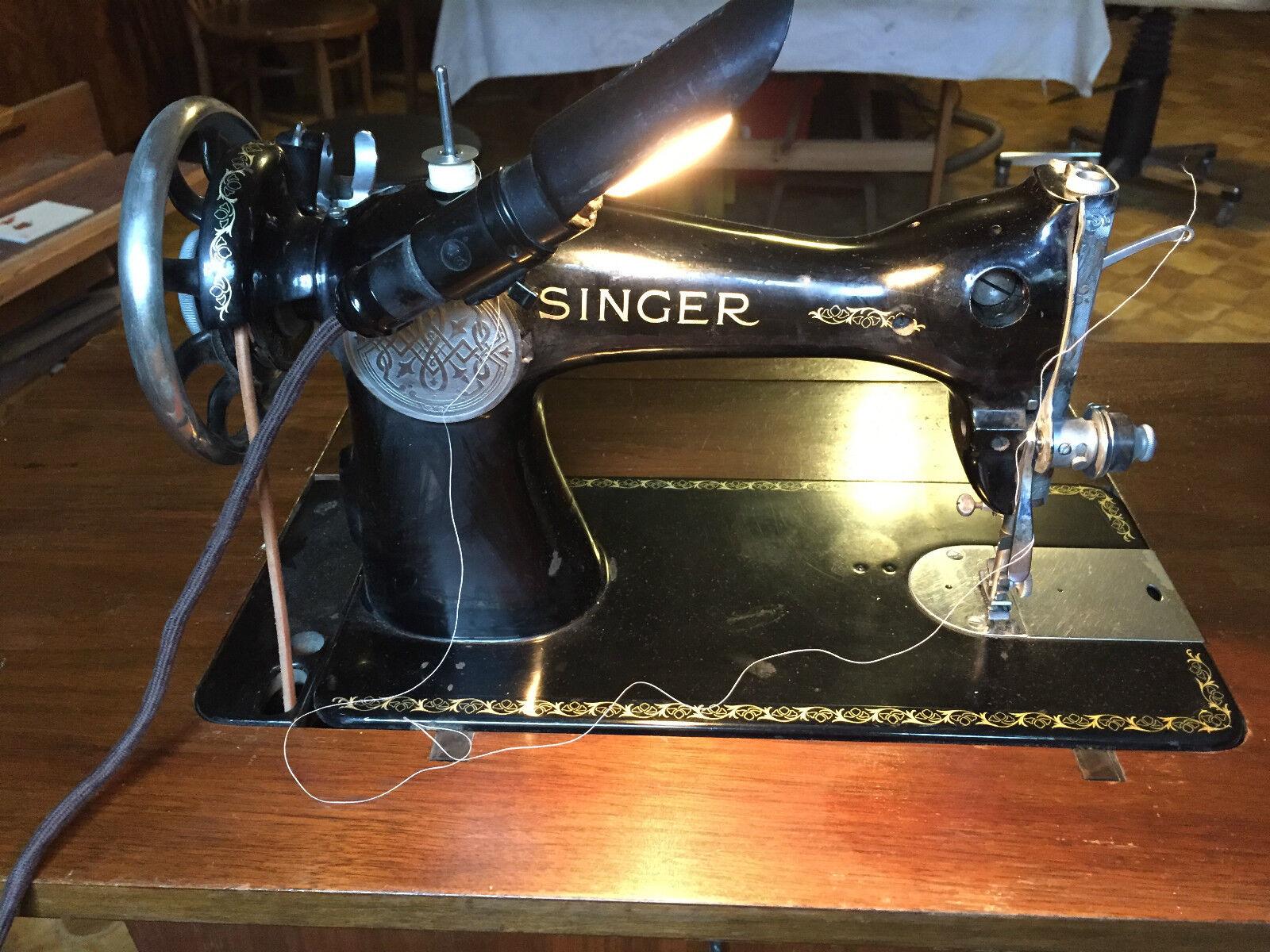 vintage singer n hmaschine antik baujahr original rechnung. Black Bedroom Furniture Sets. Home Design Ideas