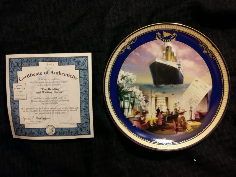 """""""Reading & Writing Room"""" Titanic Queen of the Ocean authentic plateware #3049A"""