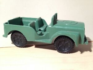 Vintage green plastic Willy Jeep toy car