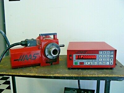 Haas Ha5c Brush Rotary Indexer Plus Manual Collet Closer Controller