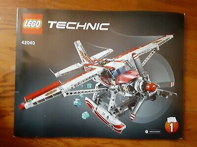 LEGO TECHNIC 42040 INSTRUCTION MANUAL (BOOKLET ONLY) #1 Plane