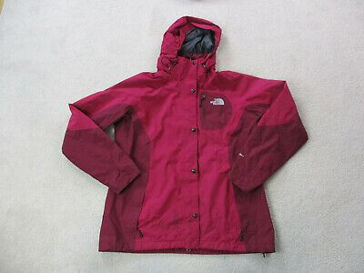 The North Face Jacket Womens Extra Large Purple Gray Hooded Outdoors Coat Ladies