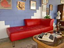 RED LEATHER GRAIN CHAISE LOUNGE _ MODERN STYLE _ VERY COOL Long Jetty Wyong Area Preview