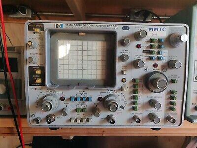 Hp Hewlett Packard 1741a 100mhz 2-channel Storage Oscilloscope Woptions 2 And 3