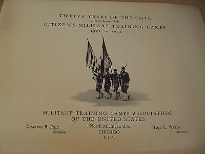 "VTG 1933 ""12 YEARS of the CMTC""~Citizens' MILITARY Training CAMPS~MacArthur~"