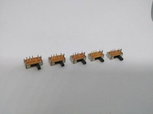 5Pcs SK23D07 8 Pin PCB 3 Position 2P3T DP3T Slide Slider Power Switch 5mm Handle