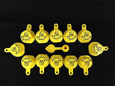 12x Blitz Yellow Spout Caps For Gas Can Spouts 900302 900092 900094 - Free Vent