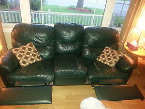 duel recliner leather couch (used)