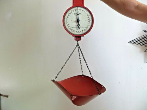 GROCERY STORE AMERICAN FAMILY SCALE 60 POUNDS BY 2 OZ.PATENTED 1912,WITH BASKET