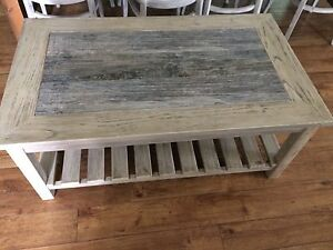 Rustic coffee and end table