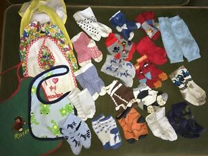 0-12 month baby socks, leg warmer and bib lot