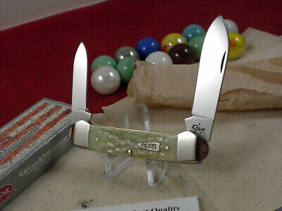 CASE XX USA 62131 SS CANOE KNIFE MINT IN ORIGINAL BOX MINT GREEN BONE