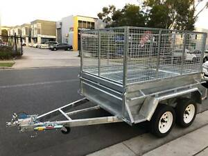 8x5 Tandem Trailer with 2ft Mesh Cage - Galvanised Auburn Auburn Area Preview