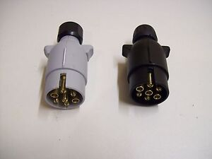 Towing electrics Trailer/caravan 12N &12 S plastic 7 pin plugs