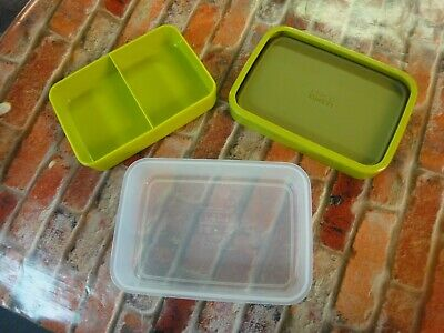 Joseph Joseph green food storage container with separating tray Green Food Storage