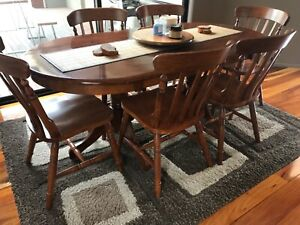 Blackwood dining table and chairs