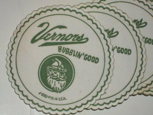 "FREE MAILING 4-1960 VERNORS GINGER ALE Gnome,Soda Fountain COASTER""Bubblin"