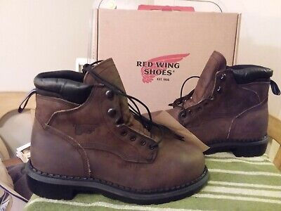 RED WING STYLE #4433 SUPERSOLE 6-INCH BOOT STEEL TOE METAGUARD USA MADE Sz 8D Metatarsal Guard 6 Inch Boot