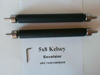 Kelsey Excelsior 5x8 Rollers And Trucks Rubber Letterpress Printing Press All