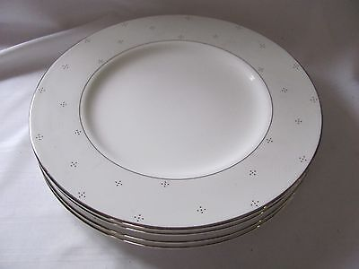 Waterford 4 salad accent luncheon dessert plates Giselle nwt white platinum