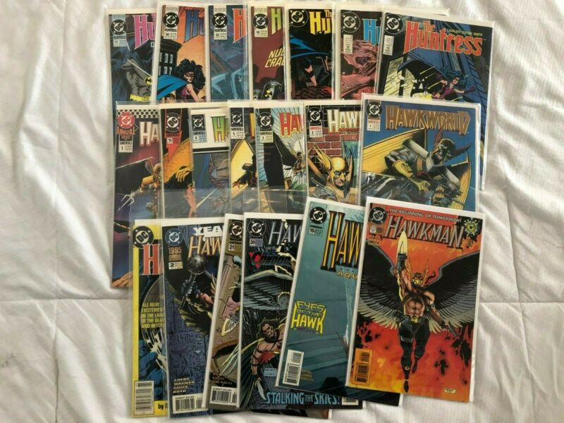 DC Comics Lot 3--Hawkman, Hawkworld and Huntress!