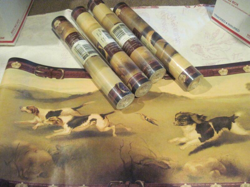 DOGS - Wallpaper Border- LOT - 4 rolls - Raymond Waits free shipping