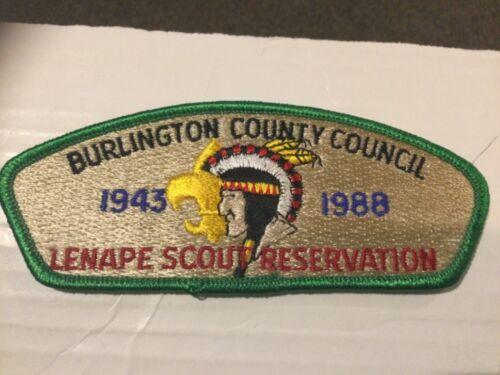 Burlington County Council CSP SA-7 Camp Lenape 45th Anniversary 1988 SALE!!