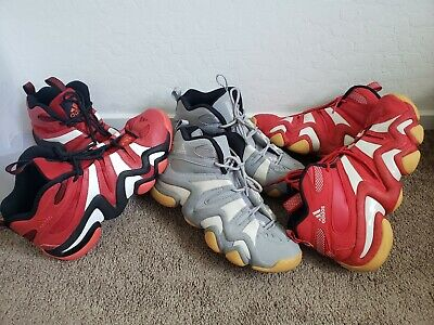 GREY GUM Adidas Crazy 8 Eight Retro Lakers Size 9 Kobe Bryant KB8 excellent