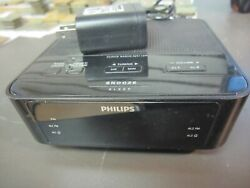 NICE! Small Philips AM/FM Dual Alarm Clock Radio Aj3116M/37 *LOW SHIPPING*