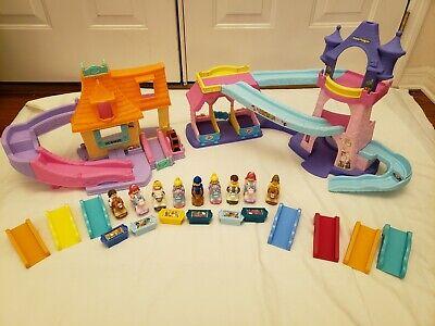 Fisher-Price Little People Disney Princess Klip Klop Castle Cottage Lot Figures
