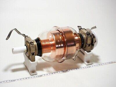 Fedex Vacuum Variable Capacitor Kp1-4 20-1000 Pf 10 Kv High-voltage Ussr Great