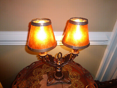 Vintage Maple Wood Table Lamp Shade not incl.