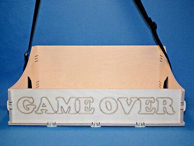 JGA Holz Bauchladen mit Beschriftung Game Over Junggesellenabschied Hochzeit