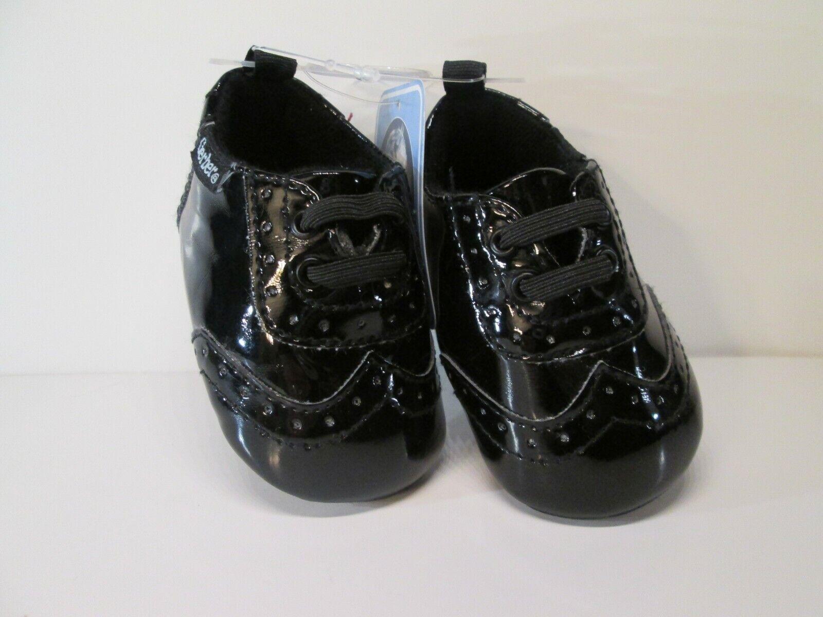 Gerber Baby Boy Girl Black Design Lace Up Soft Sole Dress Sh