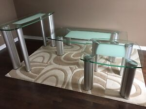 Set of 3 Glass Tables