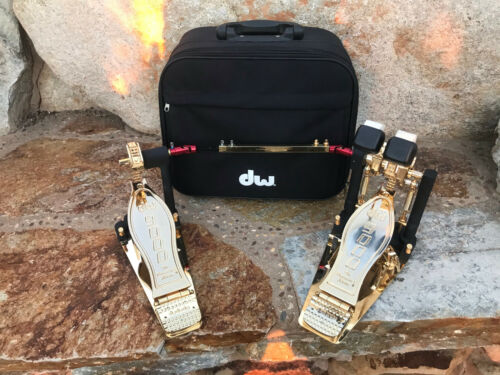 DW 9000 gold double bass pedal 9002