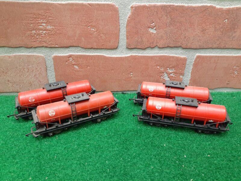 Triang Railways TT Gauge T.272 ICI Caustic Tank Wagons Lot of 4