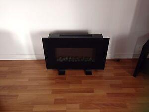 Foyer électrique et souffleur pour chaleur si désiré
