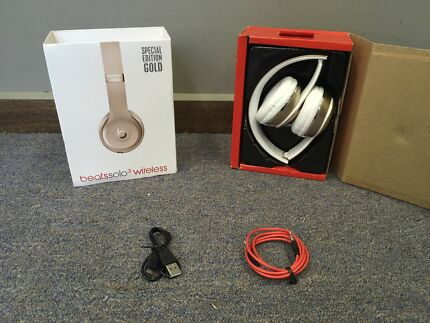 Gold Beats Solo 3 Wireless Beats By Dr. Dre Headphones Replicas