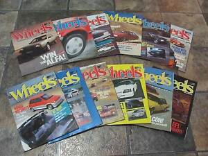 36x WHEELS MAGAZINES******1985 & 1986 Brookdale Armadale Area Preview