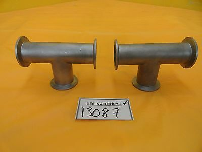 Mks Instruments 100314605 High Vacuum Tee Nw40 Lot Of 2 Used Working