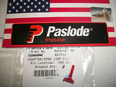 """""""NEW"""" Paslode Part  # 401340  Fuel Stem Adaptor (Red)"""