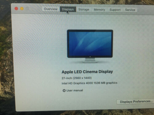 Apple Mac Mini late 2012 2.5GHZ i5 4GB 500GB HD A1347 MD387LL/A El Cap Office