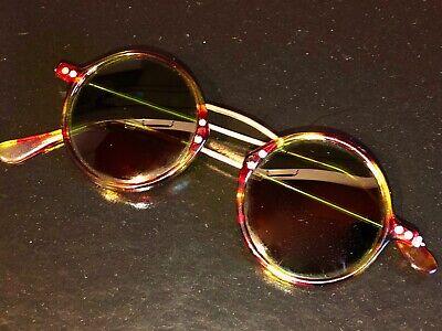 Vintage Sonnenbrille Damen 80er Jahre coole Form grün getönte Gläser