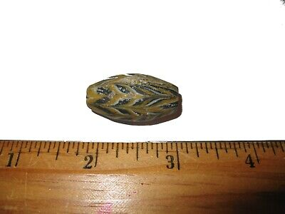 Ancient Roman empire super glass bead large specimen 2000 years old lovely #4