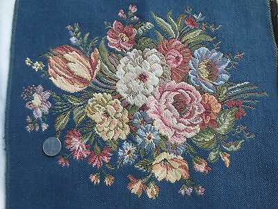 Blue Floral Tapestry (Italian Tapestry Floral Mirabile Blue  Viscouse & Cotton)