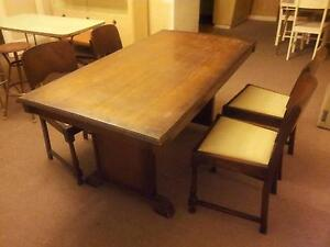 vintage 40's dining table Menai Sutherland Area Preview